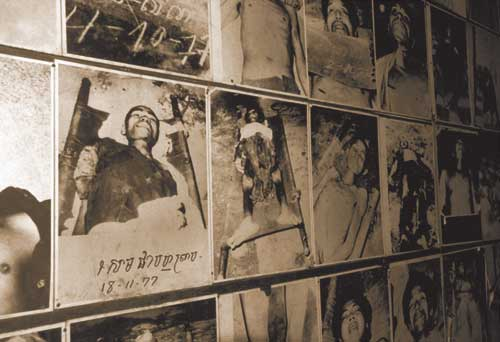 Pictures of the dead at Cambodia's notorious Tuol Sleng (S-21) prison, where the Khmer Rouge tortured those they regarded as enemies. Some 17,000 entered – only seven survived. The dead included nationals of Vietnam, India, Pakistan, Laos, Thailand, Canada, the UK, Australia, New Zealand and the US. But most were Cambodian. When Vietnam invaded Cambodia in 1978 to remove this abhorrent regime, Thailand, China, the US and other countries provided covert assistance to the Khmer Rouge to fight the Vietnamese. A US embargo against Vietnam was kept in place until 1994, to punish the Vietnamese for their invasion.