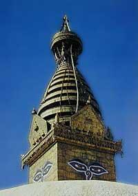 Blue sky in Kathmandu