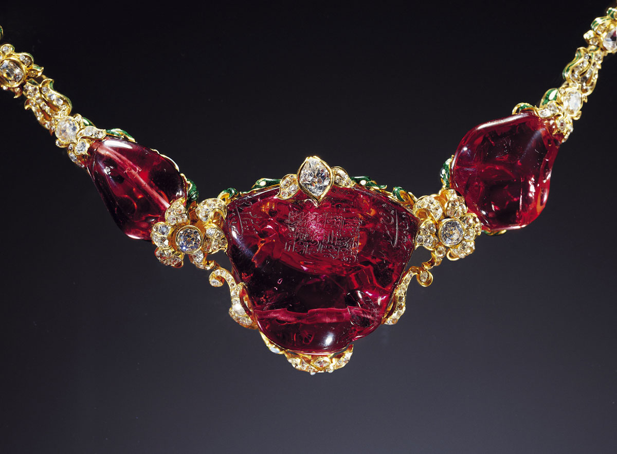 The Timur Ruby. Click on the photo for a larger image.