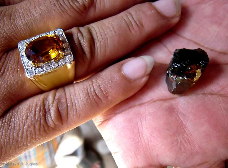 "Highly sought-after ""Mekong Whiskey"" yellow sapphires from Bang Kha Cha near Chanthaburi."