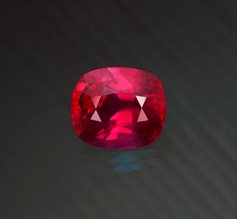 Since their discovery in 2009, the Montepuez ruby mines in Mozambique have produced the lion's share of the world's fine ruby. 15.07 ct; unheated; Crown Color. Photo: Wimon Manorotkul