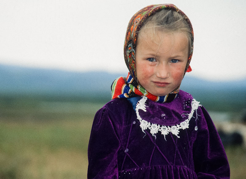 A young Komi girl. Polar Urals